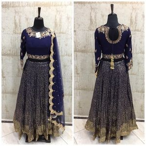 Embroidered lengha